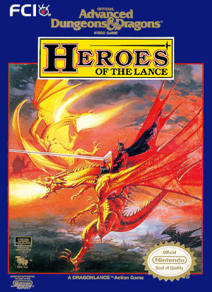 DOS - Advanced Dungeons and Dragons Heroes of the Lance Box Art Front