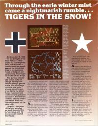 DOS - Battle of the Bulge Tigers in the Snow Box Art Back