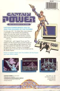 DOS - Captain Power and the Soldiers of the Future Box Art Back