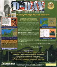 DOS - D Day The Beginning of the End Box Art Back