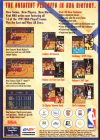 Genesis - Bulls vs. Lakers and the NBA Playoffs Box Art Back