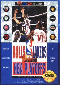 Genesis - Bulls vs. Lakers and the NBA Playoffs Box Art Front