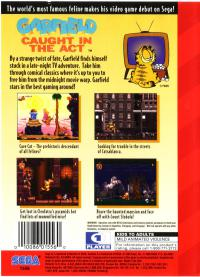 Genesis - Garfield Caught in the Act Box Art Back