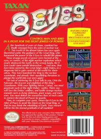 NES - 8 Eyes Box Art Back