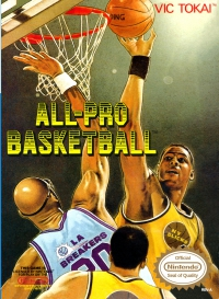 NES - All Pro Basketball Box Art Front
