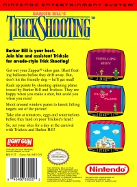 NES - Barker Bill's Trick Shooting Box Art Back