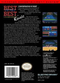 NES - Best of the Best Championship Karate Box Art Back