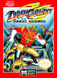 NES - Dash Galaxy in the Alien Asylum Box Art Front