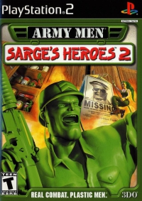 PS2 - Army Men Sarge's Heroes 2 Box Art Front