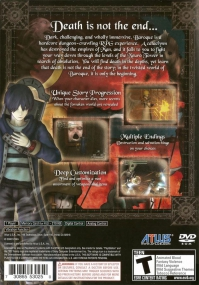 PS2 - Baroque Box Art Back