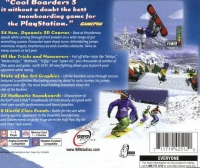 PSX - Cool Boarders 3 Box Art Back