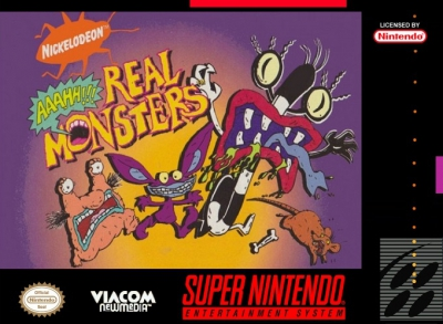 SNES - AAAHH Real Monsters Box Art Front