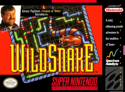 SNES - WildSnake Box Art Front